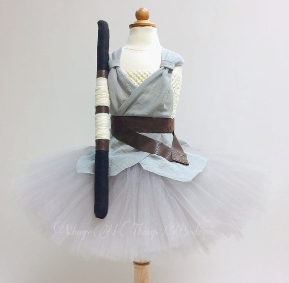 GIRLS JEDI COSTUME, Tutu Dress 3pc Set, Felt Staff, Belt, Child, Baby, Toddler, Kids, Halloween, Geekery, Photo Prop, Infant, GirlWings and Things 13