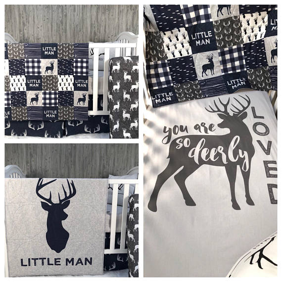 Baby Nursery Bedding Set , Baby , Woodland , Moose , Bear , Arrow , Baby Bedding , Babylooms Crib BeddingBaby Looms