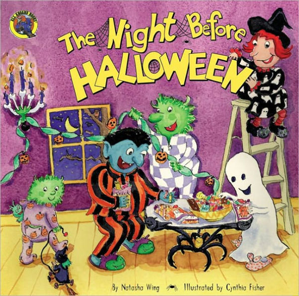 """The Night Before Halloween by Natasha Wing  - Another amazing series of books! They are so much fun to read and you can almost hear the Night Before Christmas rhythm in your head while you read. Little monsters and goofy goblins prepare for Halloween in a silly, spooky spin on Clement C. Moore's """"Night Before Christmas."""" A bewitching adventure for children."""