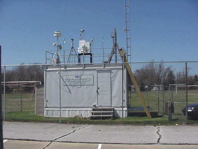 The Holland, MI, air quality monitoring station