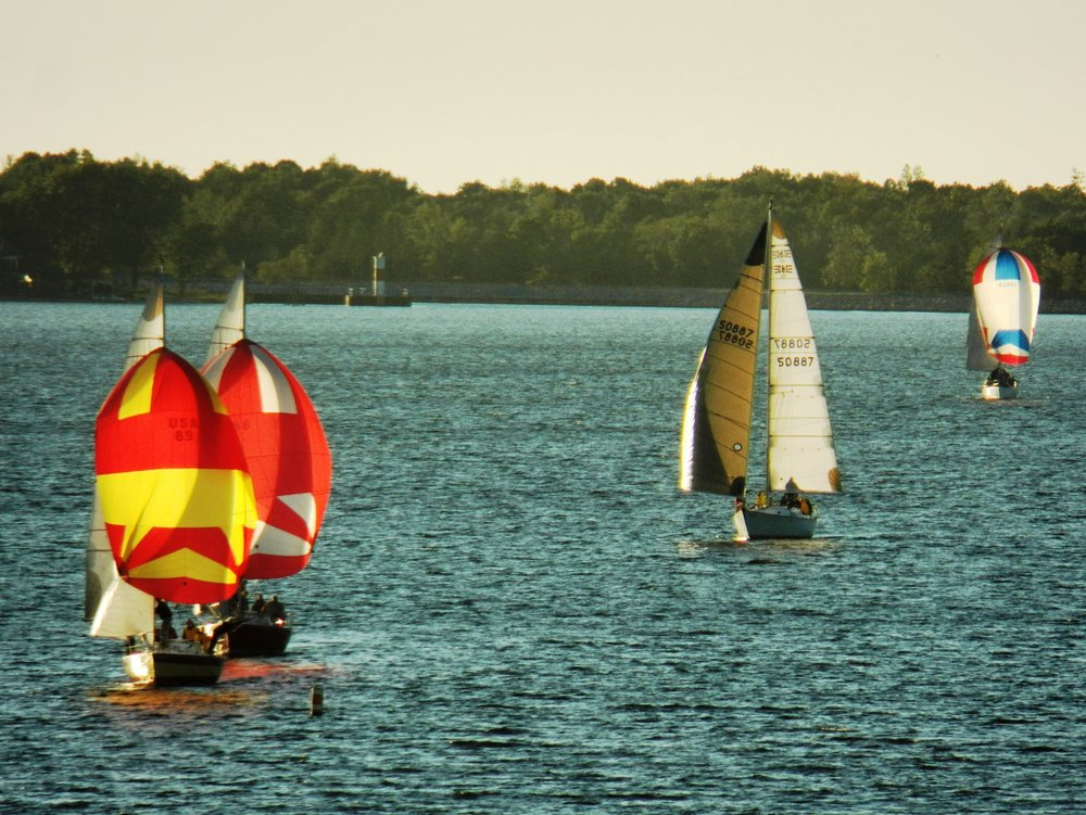 Boats on Muskegon Lake