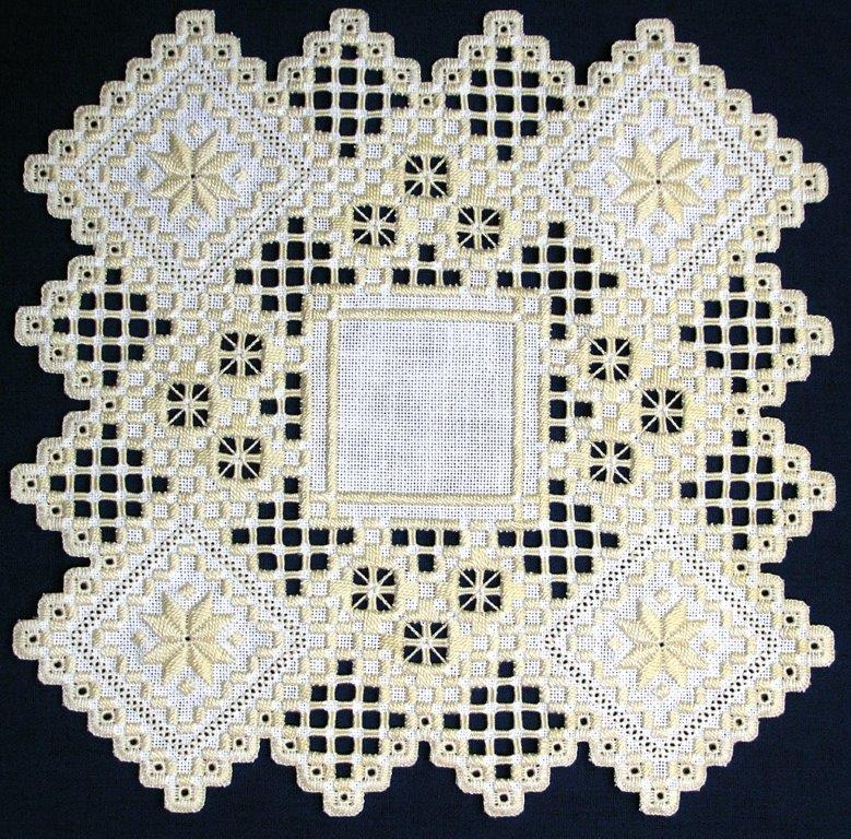 Hidden Charm, Hardanger Embroidery by Donna M. Olson of Stoughton, Wisconsin