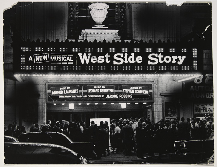 Outside Philadelphia's Erlanger Theatre before the two-week out-of-town tryout. Photographer unknown.  Leonard Bernstein Collection,   Music Division  , Library of Congresss (28)
