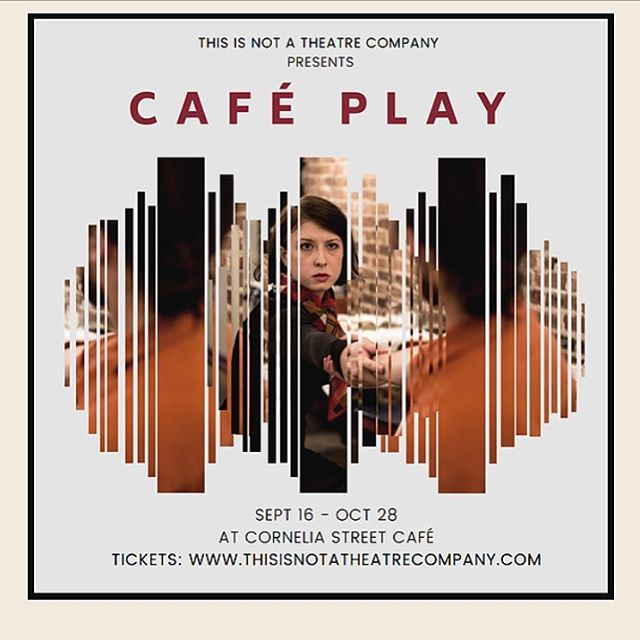 "Check out ""The Cafe Play"" from our friends @thisisnotatheatrecompany more information and tickets at thisisnotatheatrecompany.com  performances serve a three course meal and ""a unique glimpse into the lives of New Yorkers- from the waitress to the cockroach to the teacup on the table!"""