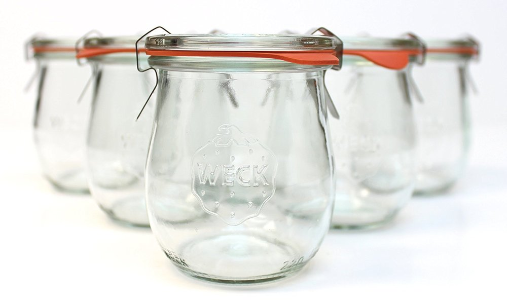 Weck Tulip Jars from  Amazon