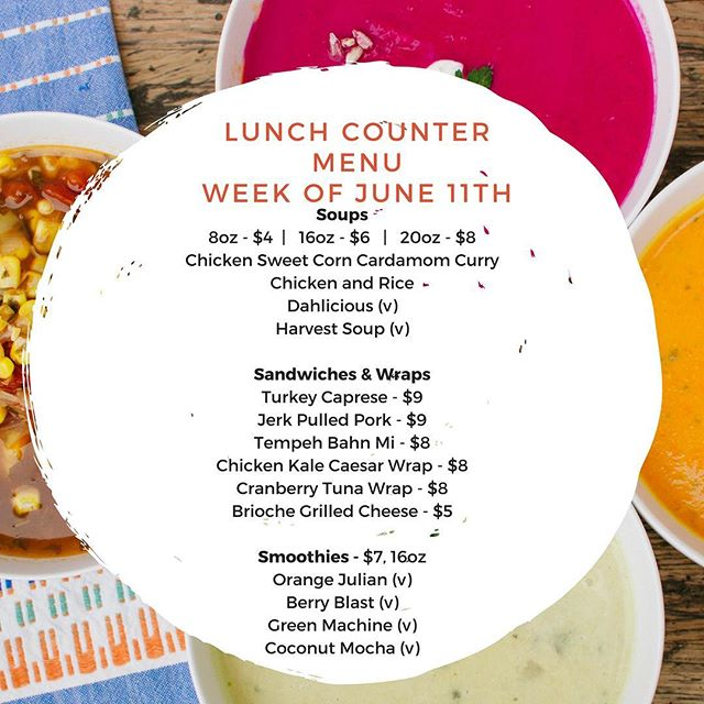 Join us for lunch this week!  We have four amazing smoothies, some great sandwich options, and our popular Indian Dahl soup on the menu.  1140 SE 7th Ave Suite 160 Portland, OR 97214 Open: Monday - Friday 11a-2p  #whatsforlunch #smoothies #salad #sandwiches #soup #pdxsoup #pdxnow #pdxeats #eaterpdx
