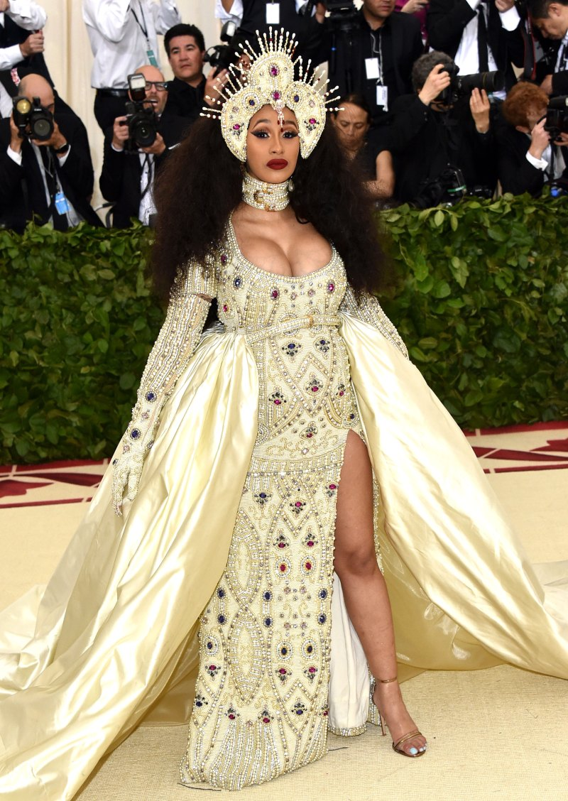 Crowned Royal - Met Gala in an embroidered Moschino gown on May 5.