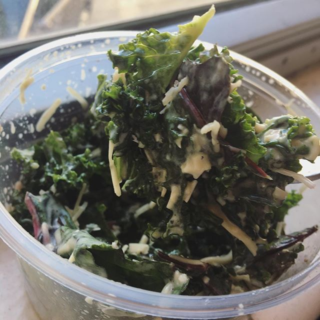 Kale. They say it's like floss for your bowels and intestines.#wellnesswednesday