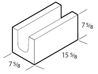 8 Inch Closed Bottom Bond Beam