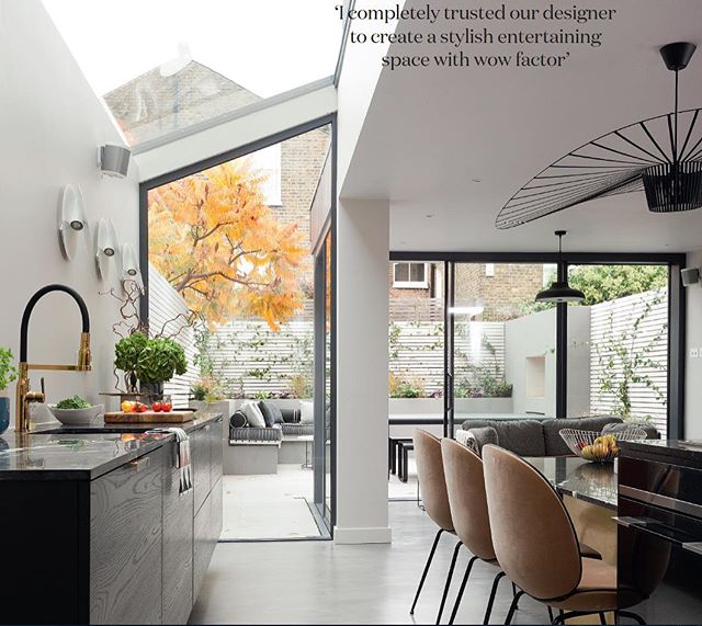 'I completely trusted our designer to create a stylish entertaining space with wow factor'......#tbt to @real_homes article on project Clapham. Thank-you @fwalkerarnottphotography 😘 #realhomes #magazinepublication #thursdayinspiration #resinfloor @gubiofficial #gubichairs #kitchen #kitchendesign #interiordesigners #brass #design #designstudio #interiordesign #interior_design #clientgoals #homesandinteriors #london #londonstyle #interiorsinspo #clapham #highgate #blackheath #belsizepark #hampstead #kensington #crouchend #hampshire #southkensington