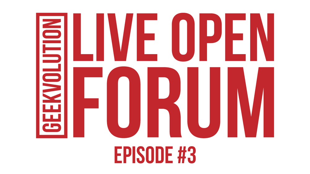 Live Open Forum - Title card for the