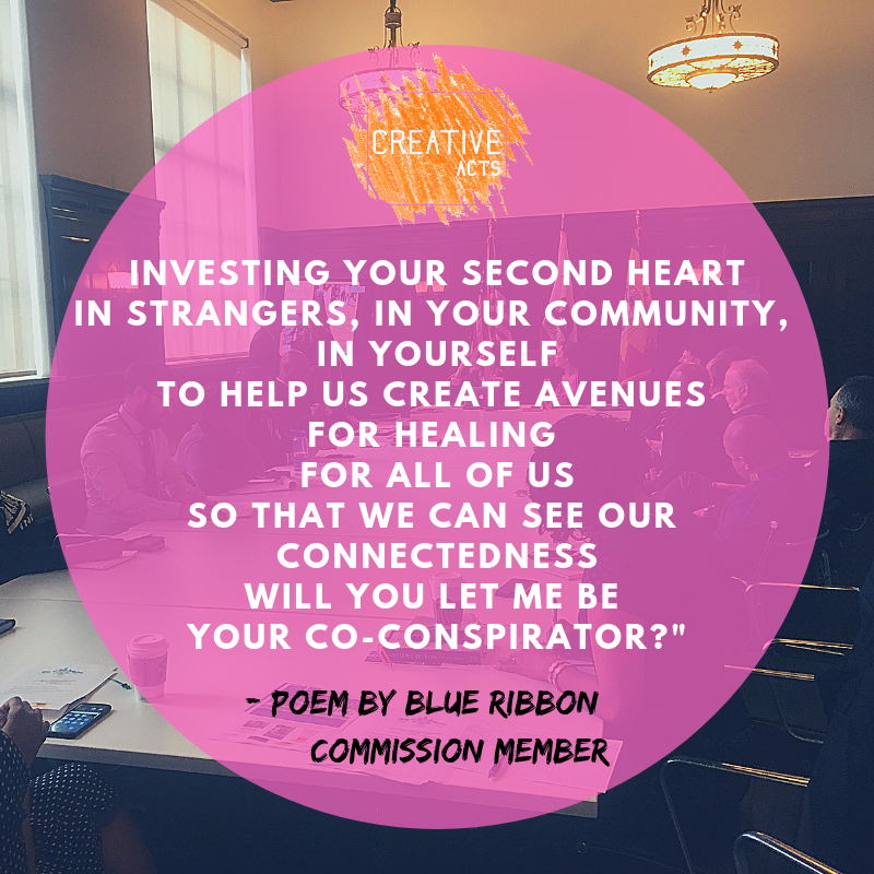Investing your second heart In strangers, in your community, in yourself To help us create avenues for healing For all of us So that we can see our connectedness Will you let me be your co-conspirator?%22.png