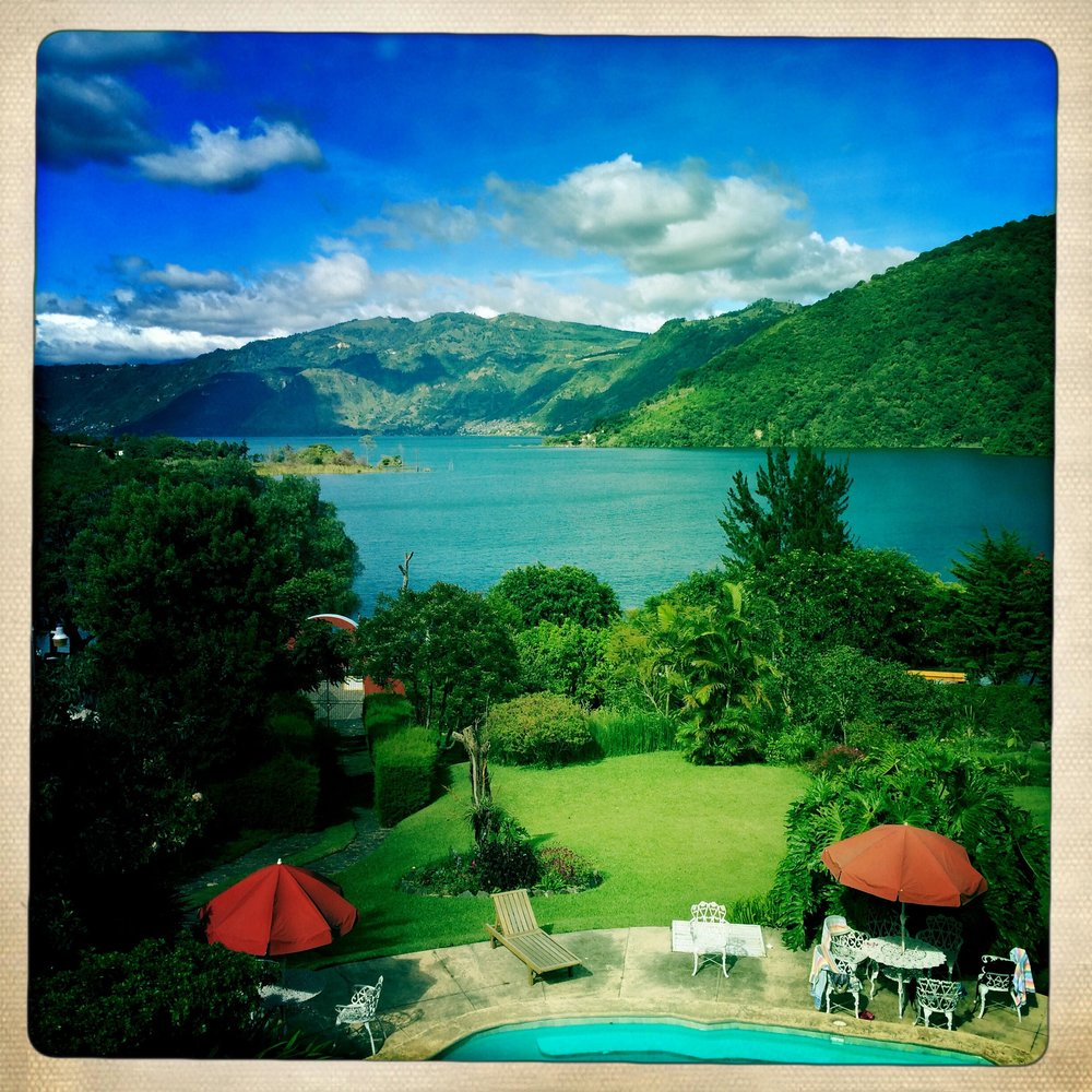 View from the Balcony at   Hotel Toliman, San Lucas Toliman - Lake Atitlan