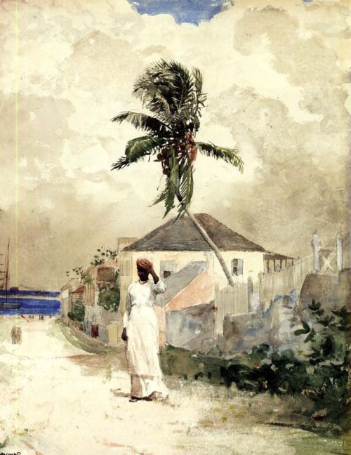 Along the Road, Bahamas by Winslow Homer, 1885