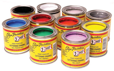 One shot paints bill wrights paint store with their infinite color blendabilty and a full line of reducers and hardeners its no wonder 1 shot lettering enamels are used by more sign and graphics publicscrutiny Choice Image