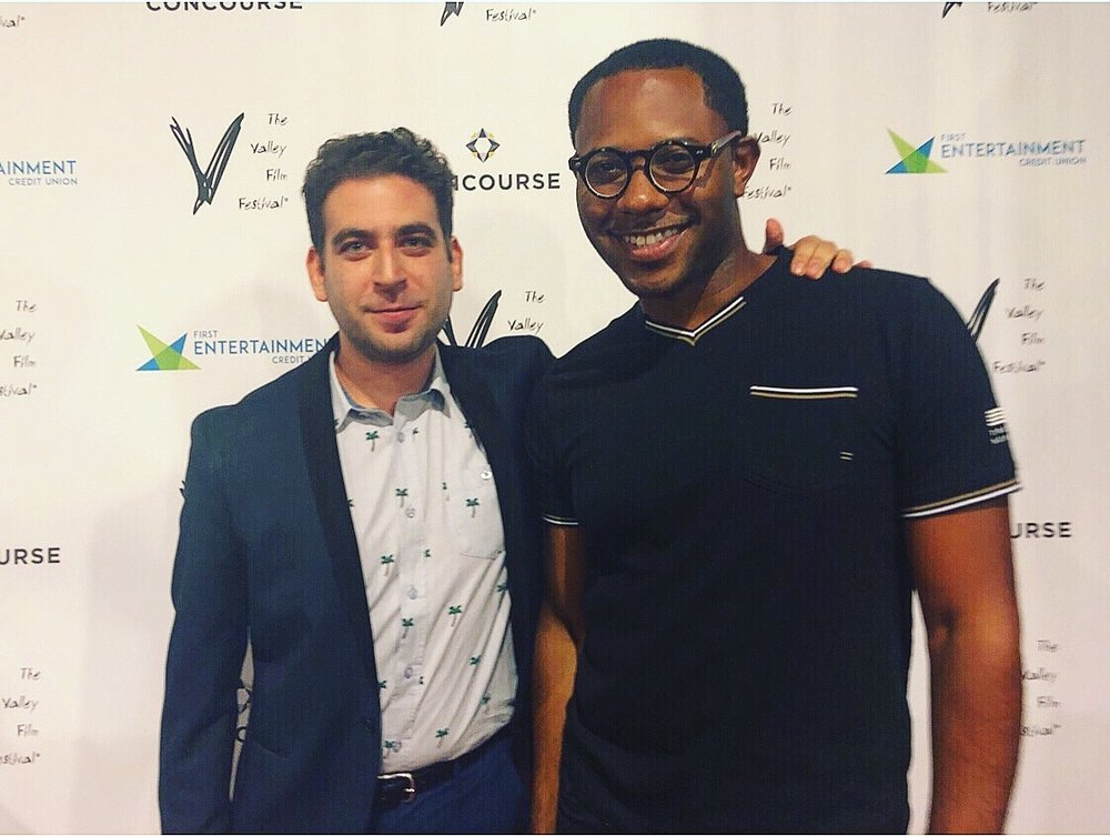 Writer/Director Michael K. Feinstein and Actor Larry Powell at the Valley Film Festival.