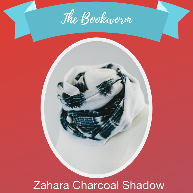 - They're more reserved than most, but you admire their unparalleled eloquence. Well-read and well-rounded, the bookworm is constantly learning, asking questions, and beginning new chapters. The Zahara Charcoal Shadow scarf captures the essence of a blank page yearning for its beloved ink to decorate it with meaning and purpose. Give them their next favorite story with a twist – to wear!Shop →