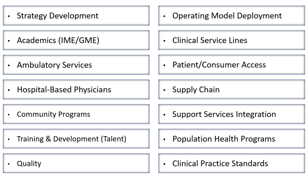 [CLICK TO ENLARGE]We offer a comprehensive array of health system integration services including: