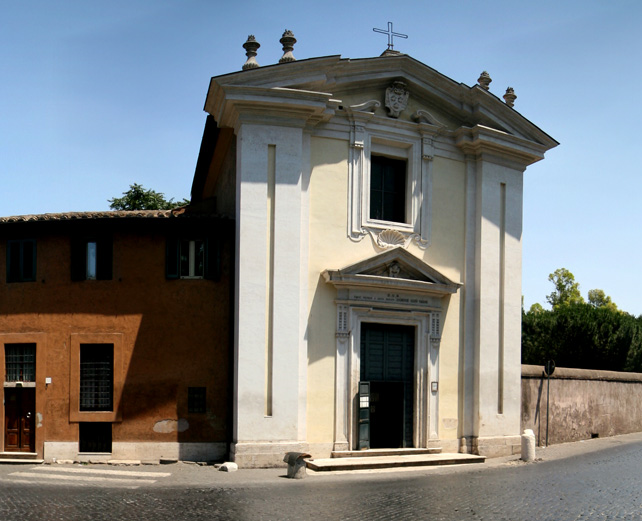 Church of Quo Vadis outside Rome.