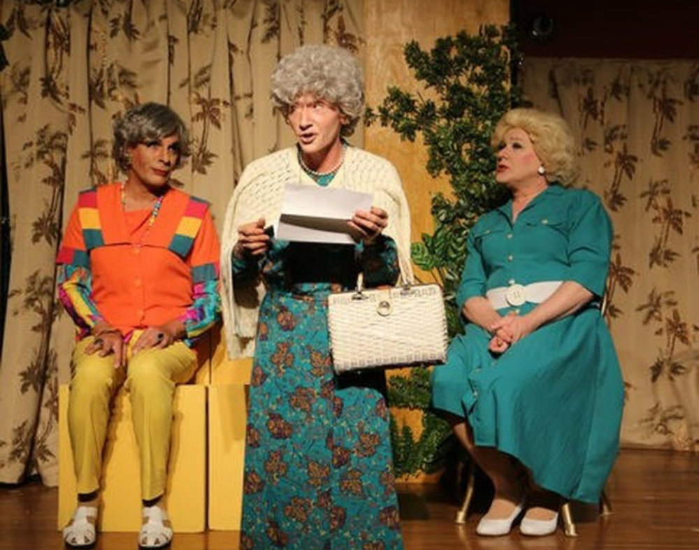 David Cerda (Dorothy), Adrian Hadlock (Sophia) and Ed Jones (Rose) in The Golden Girls - Lost Episodes from Hell in a Handbag Productions