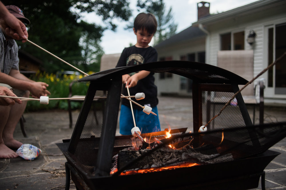 There is nothing more photogenic than a focus child near fire