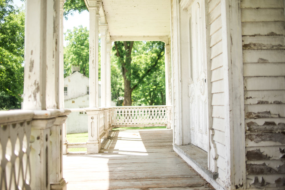 porch at Waterloo village