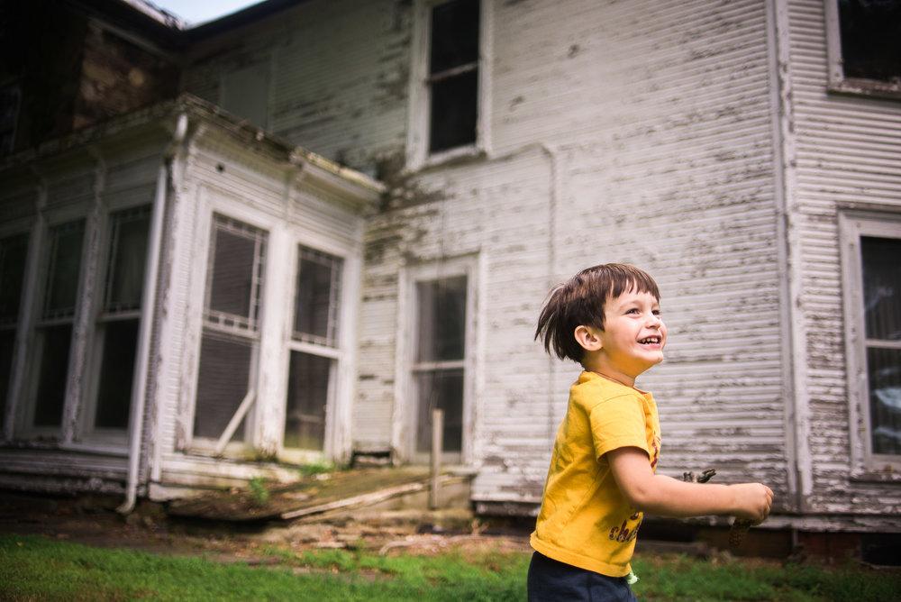 childhood happiness in Waterloo village