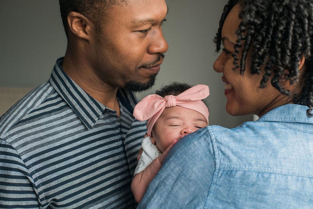 Newborn family session in Brooklyn