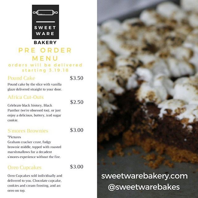 Still time to preorder dessert for the week!
