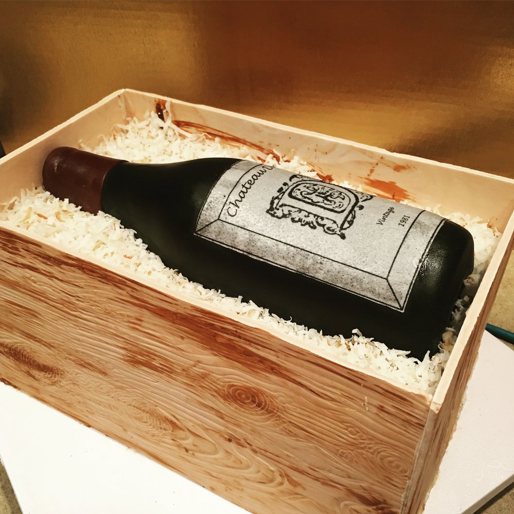 Wine Bottle Birthday Cake