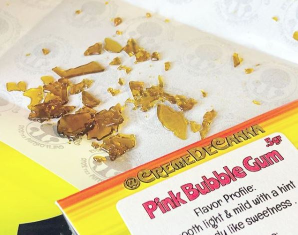 Creme De Canna - Buy any two Creme De Canna concentrates get a half gram of Pink Bubblegum shatter for One Dollar!