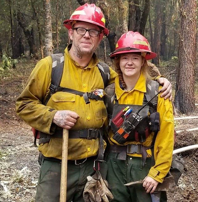 Like father, like daughter. John and Kyra Banner.⠀ #womeninwildfire #wildlandfirefighting