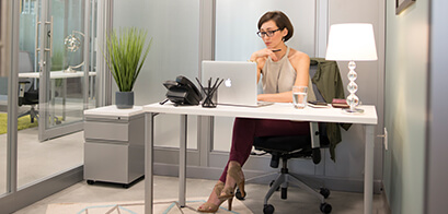 Internal Office - A regular business center office, minus the view; the lowest cost office space.