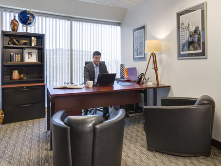 executive office with large external window