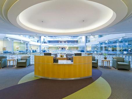 large reception area on 2nd floor