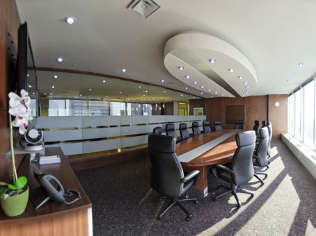 huge boardroom with city view