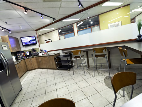 kitchen and lunchroom area