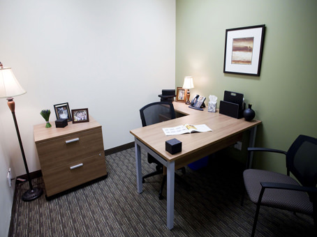 internal office with filing cabinet