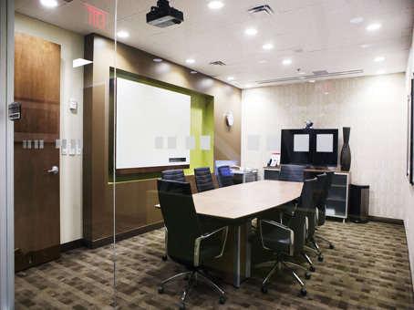 boardroom with executive chairs