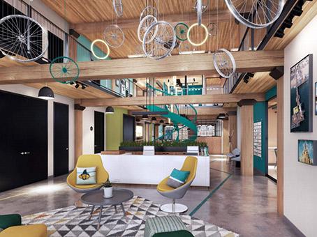 social area with beautiful furniture