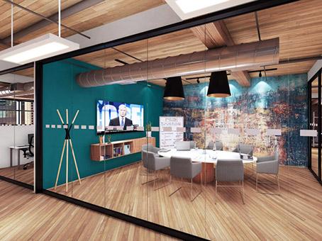 meeting room on new hardwood floor
