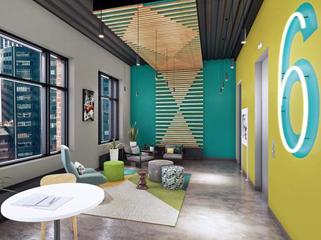 lounge area on 6th floor