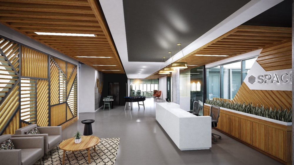 internal hallways and waiting areas