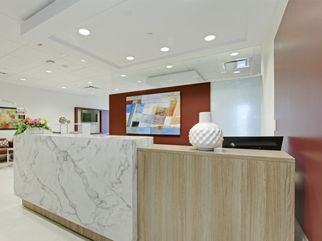 marble front reception desk