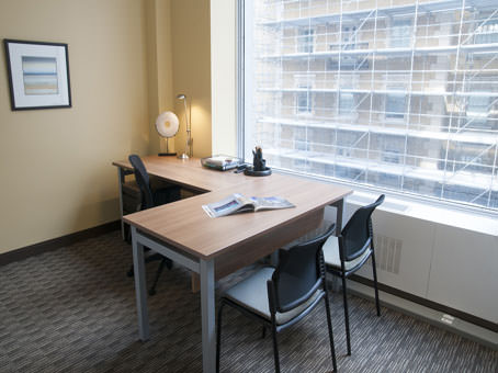 mid sized office with large window