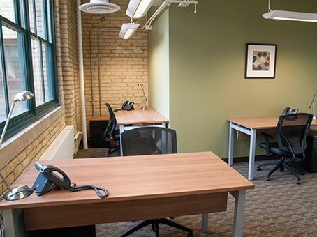 medium sized office set up for small group to work