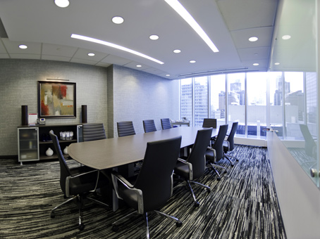 boardroom and lots of natural light with city view