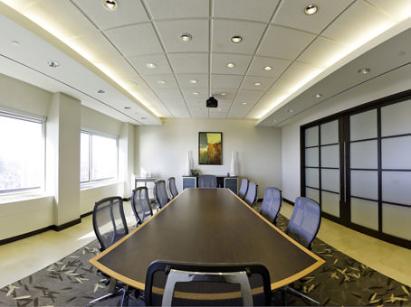 boardroom with incredible view of city