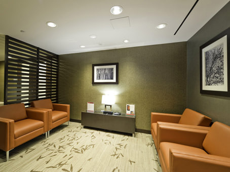 business lounge area with couches