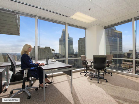 example executive suite with one person